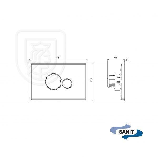 Przycisk spłukujący Sanit KS706