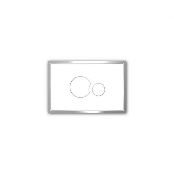 Przycisk spłukujący Sanit KS706 biały
