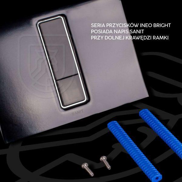 Przycisk Spłukujący Sanit Ineo Bright Czarny Mat