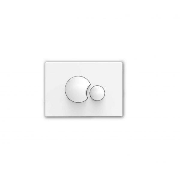 Przycisk spłukujący Sanit S706 biały