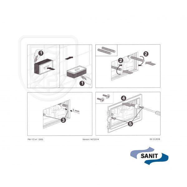 Przycisk spłukujący Sanit S706